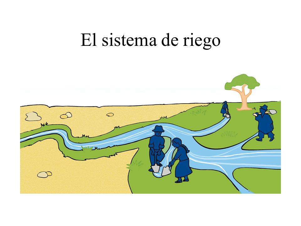 El sistema de riego