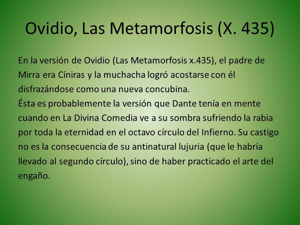 Adaptación de Cristina Sánchez del texto de Ovidio en Las metamorfosis Mirra era una joven muy hermosa que había sido criada por sus padres con mucha ternura y cariño.