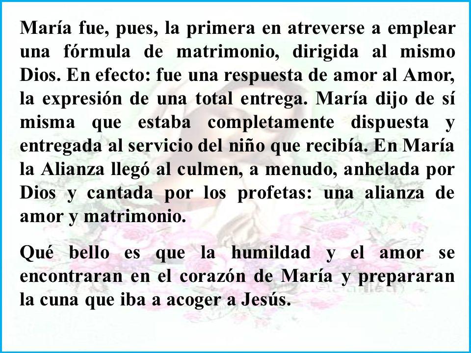 La invitación de Gabriel a la alegría y al amor de Dios es una iluminación que llega y penetra el corazón de María: Ella se sentía una pura nada. Pero