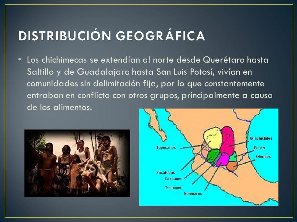 Los chichimecas se extendían al norte desde Querétaro hasta Saltillo y de Guadalajara hasta San Luis Potosí, vivían en comunidades sin delimitación fi