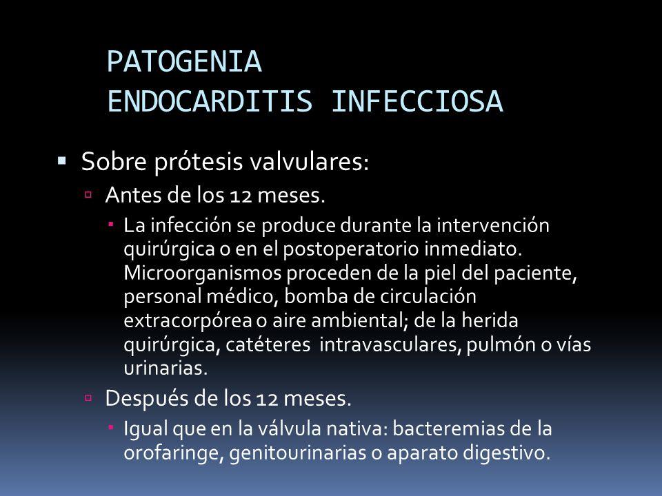 PATOGENIA ENDOCARDITIS INFECCIOSA En marcapasos y desfibriladores.