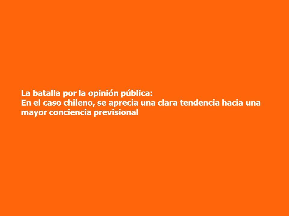 La batalla por la opinión pública: En el caso chileno, se aprecia una clara tendencia hacia una mayor conciencia previsional