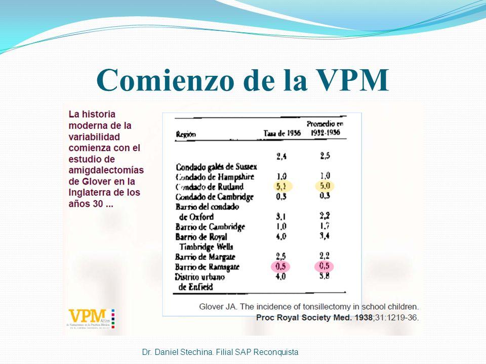 Dr. Daniel Stechina. Filial SAP Reconquista Comienzo de la VPM