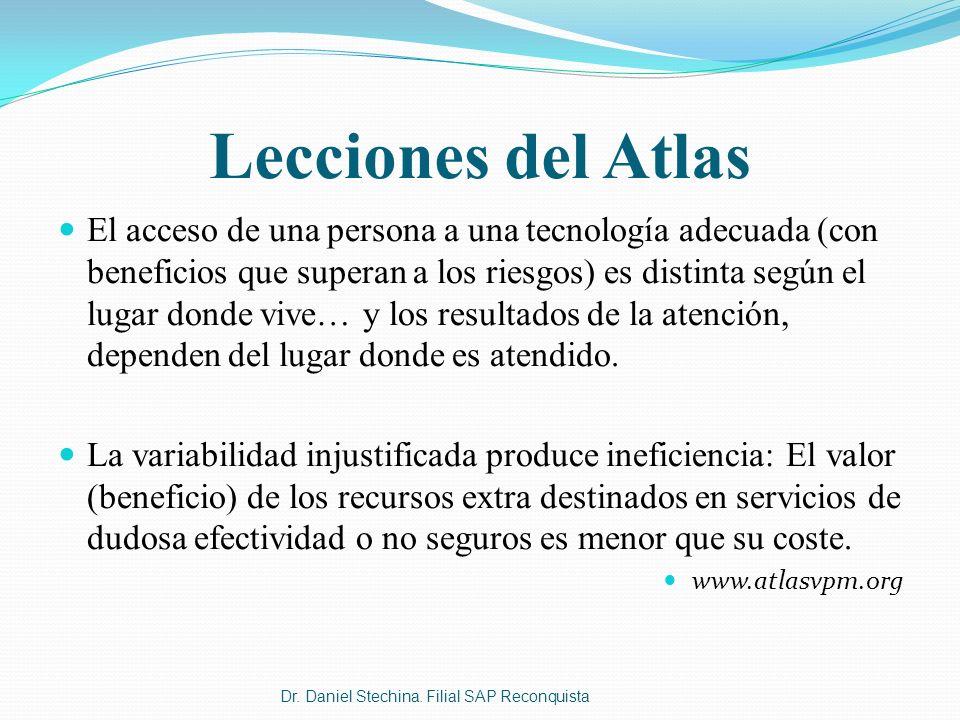 Lecciones del Atlas El acceso de una persona a una tecnología adecuada (con beneficios que superan a los riesgos) es distinta según el lugar donde viv