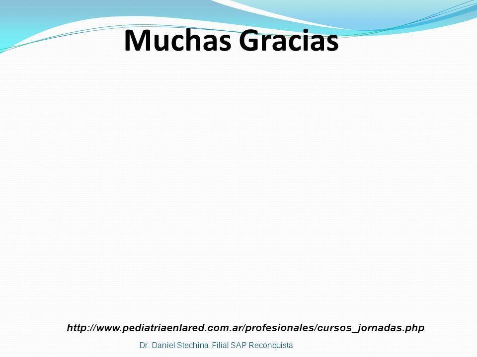 Muchas Gracias Dr. Daniel Stechina. Filial SAP Reconquista http://www.pediatriaenlared.com.ar/profesionales/cursos_jornadas.php