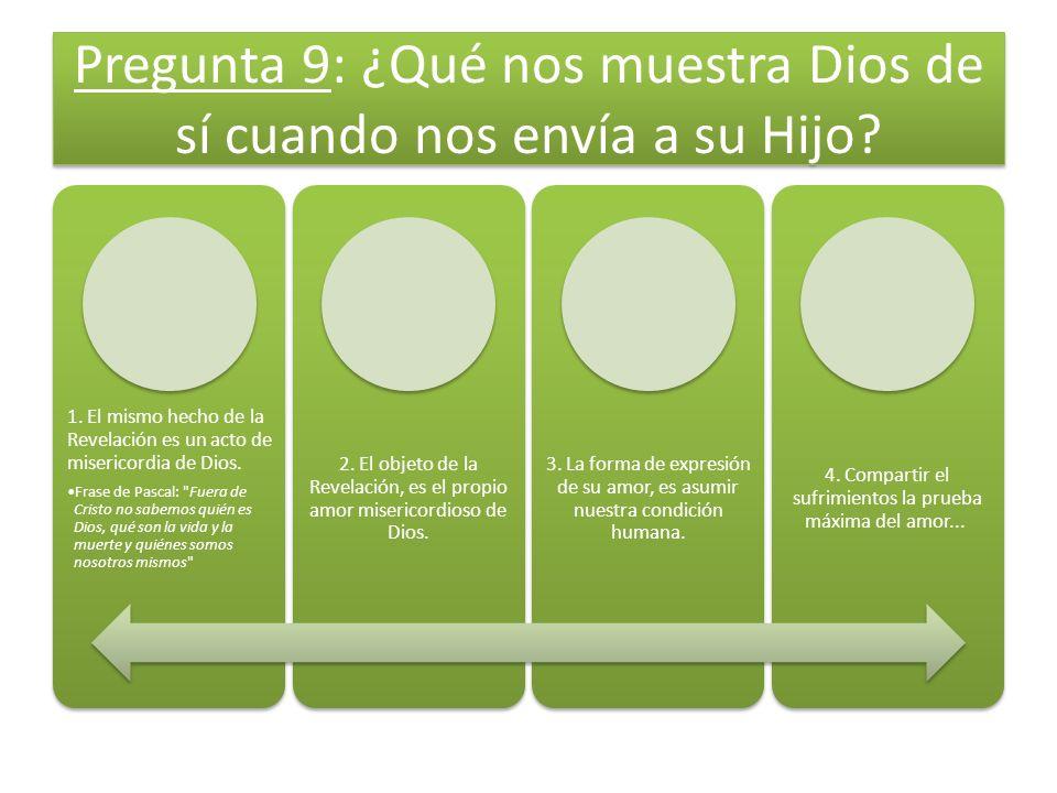 Pregunta 9: ¿Qué nos muestra Dios de sí cuando nos envía a su Hijo.
