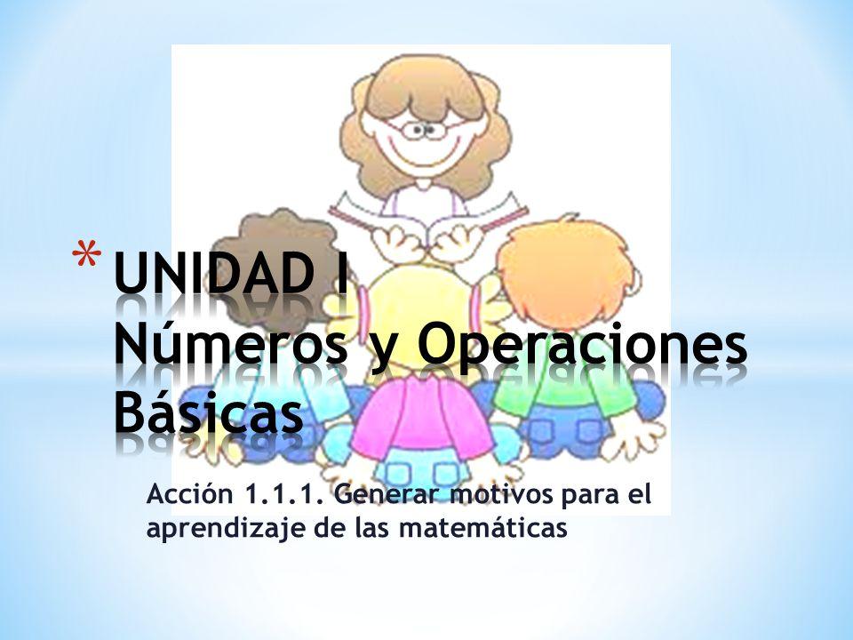 Acción 1.1.1. Generar motivos para el aprendizaje de las matemáticas