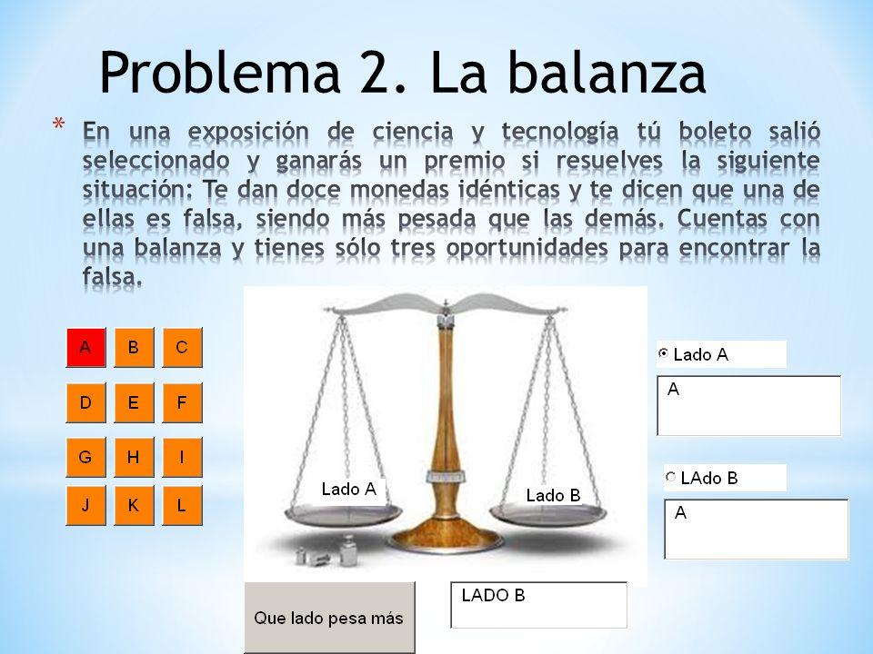 Problema 2. La balanza