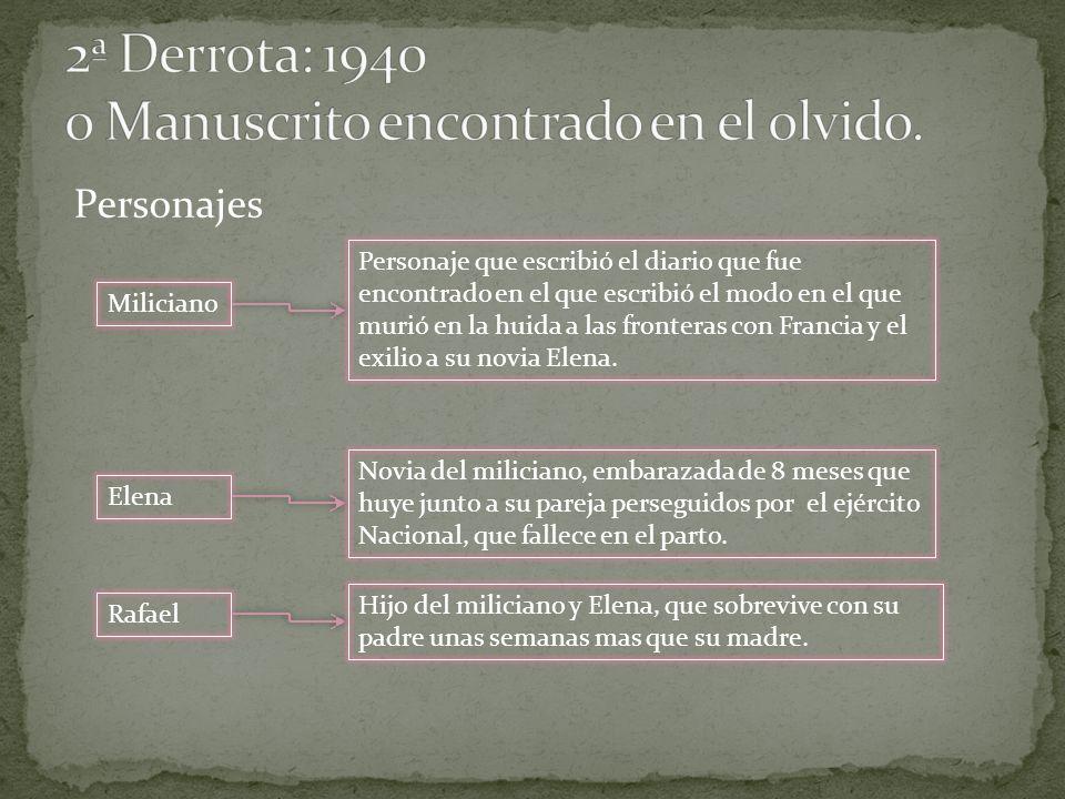 Miliciano Personaje que escribió el diario que fue encontrado en el que escribió el modo en el que murió en la huida a las fronteras con Francia y el
