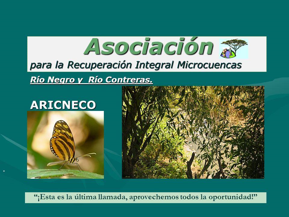 Asociación Asociación para la Recuperación Integral Microcuencas. ¡Esta es la última llamada, aprovechemos todos la oportunidad! Río Negro y Río Contr