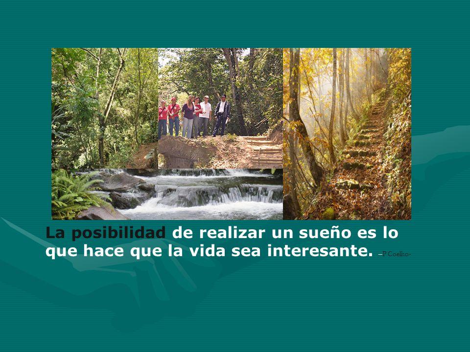 La posibilidad de realizar un sueño es lo que hace que la vida sea interesante. –P Coelho-