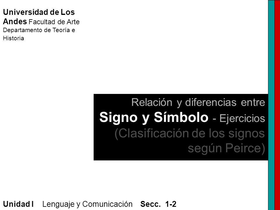Universidad de Los Andes Facultad de Arte Departamento de Teoría e Historia Unidad I Lenguaje y Comunicación Secc. 1-2 Relación y diferencias entre Si