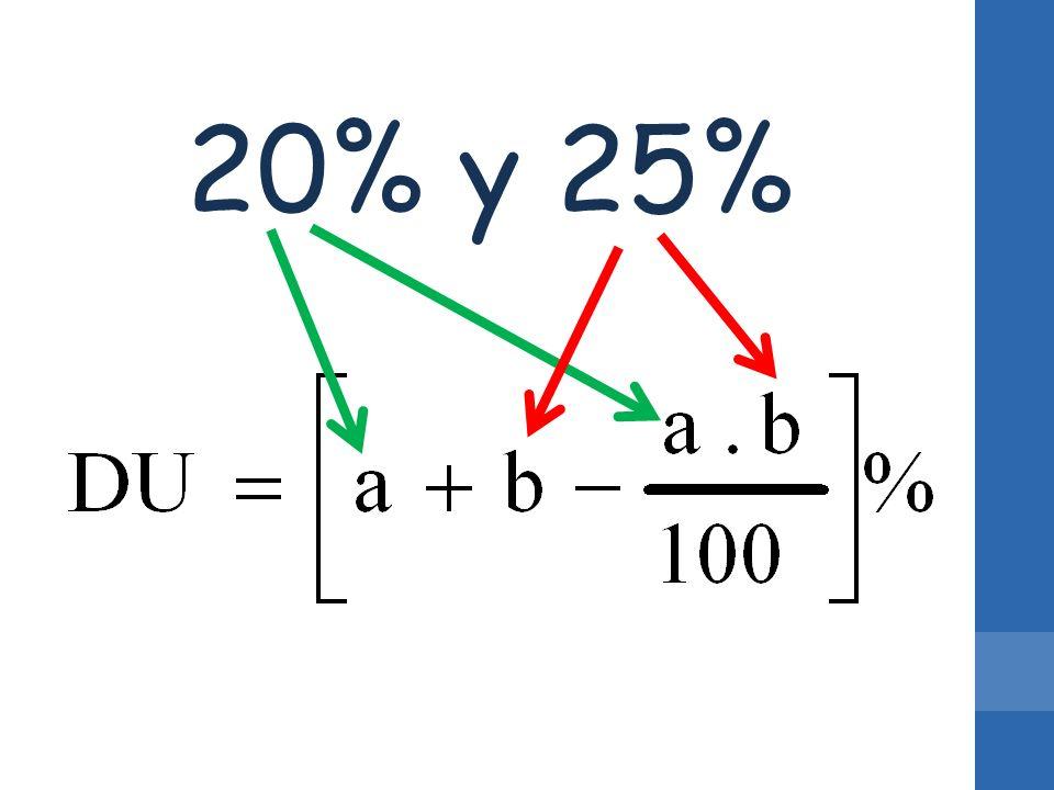 20% y 25%