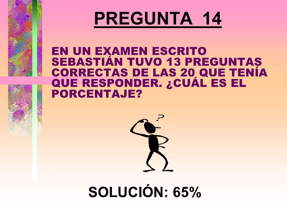 PREGUNTA 13 ¿CUÁL ES EL ÁNGULO ENTRE LAS MANECILLAS DEL RELOJ CUÁNDO ESTÁ MARCANDO LAS TRES DE LA TARDE? SOLUCIÓN: 90 o