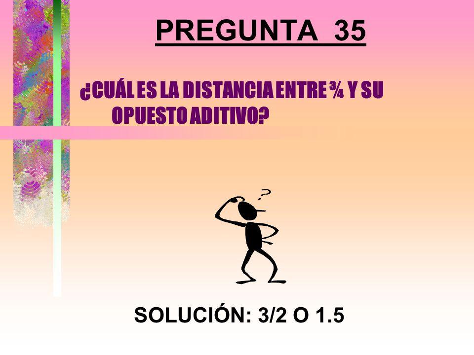 PREGUNTA 34 ¿CUÁNTOS COLORES SE NECESITAN PARA PINTAR LAS CARAS DE UN CUBO SIN QUE CARAS ADJUNTAS QUEDEN DEL MISMO COLOR? SOLUCIÓN: 3 COLORES