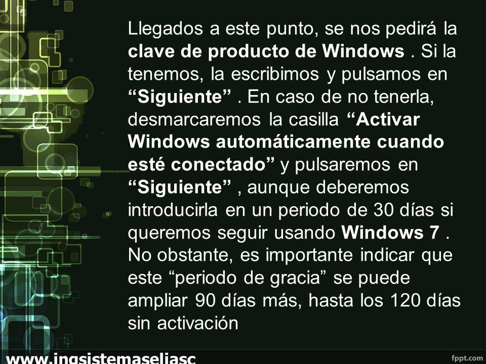 Llegados a este punto, se nos pedirá la clave de producto de Windows.