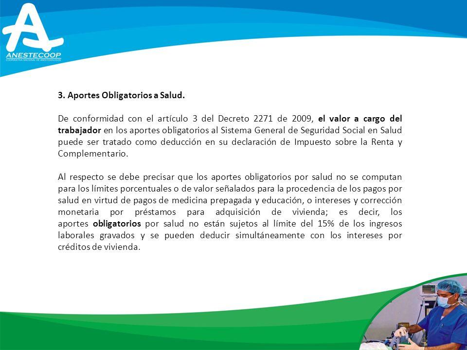 3.Aportes Obligatorios a Salud.