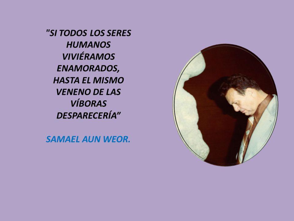 SI TODOS LOS SERES HUMANOS VIVIÉRAMOS ENAMORADOS, HASTA EL MISMO VENENO DE LAS VÍBORAS DESPARECERÍA SAMAEL AUN WEOR.