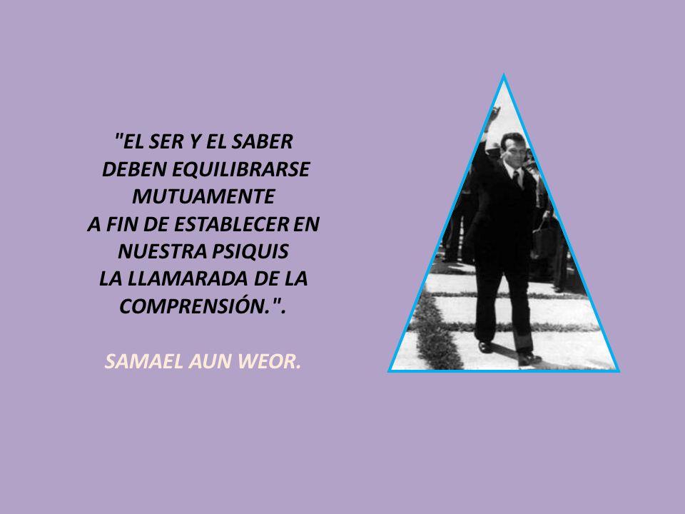 EL SER Y EL SABER DEBEN EQUILIBRARSE MUTUAMENTE A FIN DE ESTABLECER EN NUESTRA PSIQUIS LA LLAMARADA DE LA COMPRENSIÓN. .