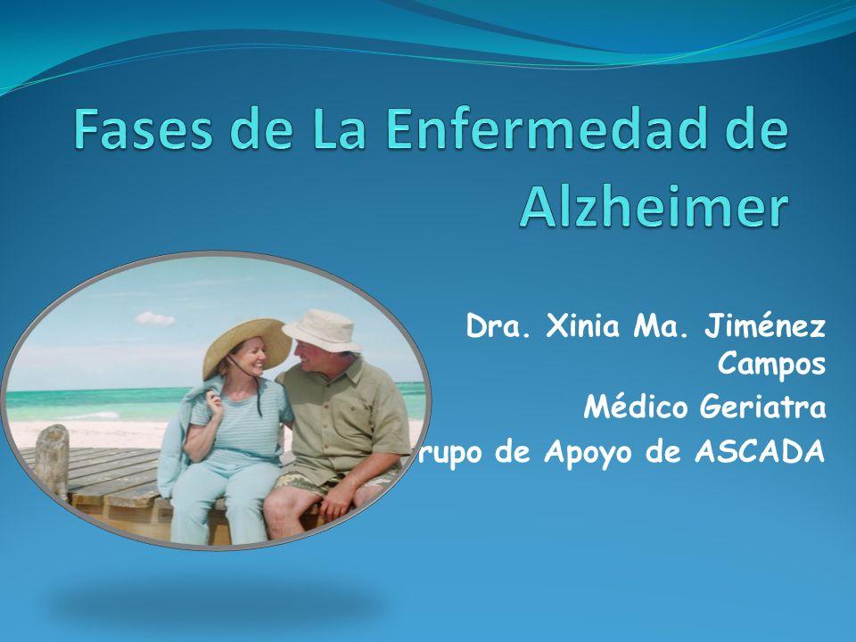 Dra. Xinia Ma. Jiménez Campos Médico Geriatra Grupo de Apoyo de ASCADA
