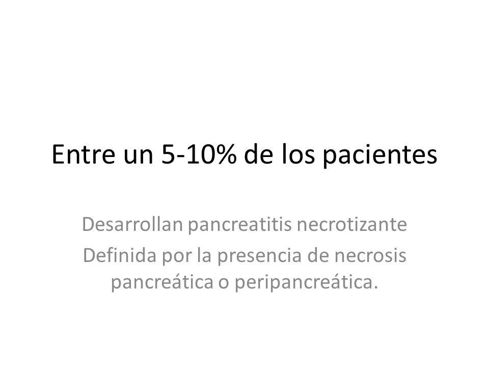 2 Pancreatitis necrotizante: necrosis pancreática 1.