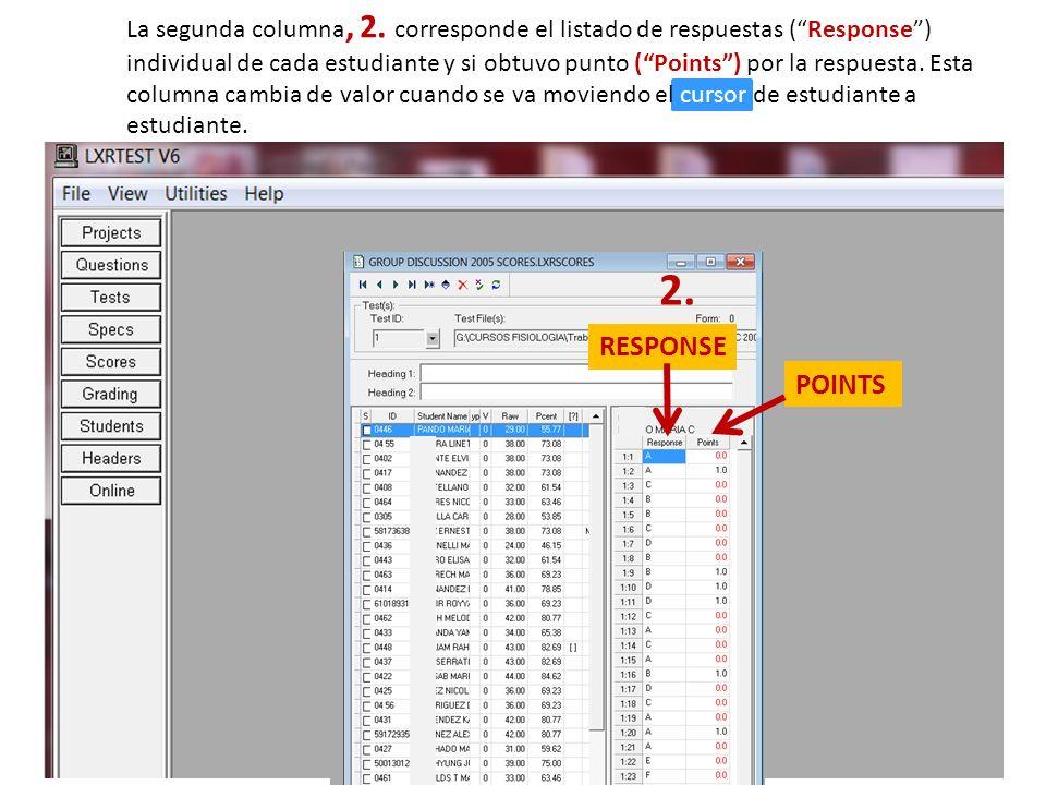 Otra informacion que se puede obtener en LXR es una copia de la clave y el examen administrado.