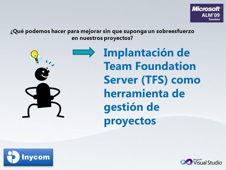 ¿Qué podemos hacer para mejorar sin que suponga un sobreesfuerzo en nuestros proyectos? Implantación de Team Foundation Server (TFS) como herramienta
