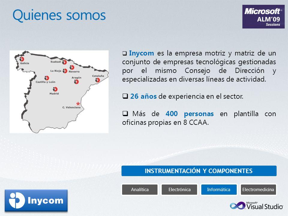 Inycom es la empresa motriz y matriz de un conjunto de empresas tecnológicas gestionadas por el mismo Consejo de Dirección y especializadas en diversa