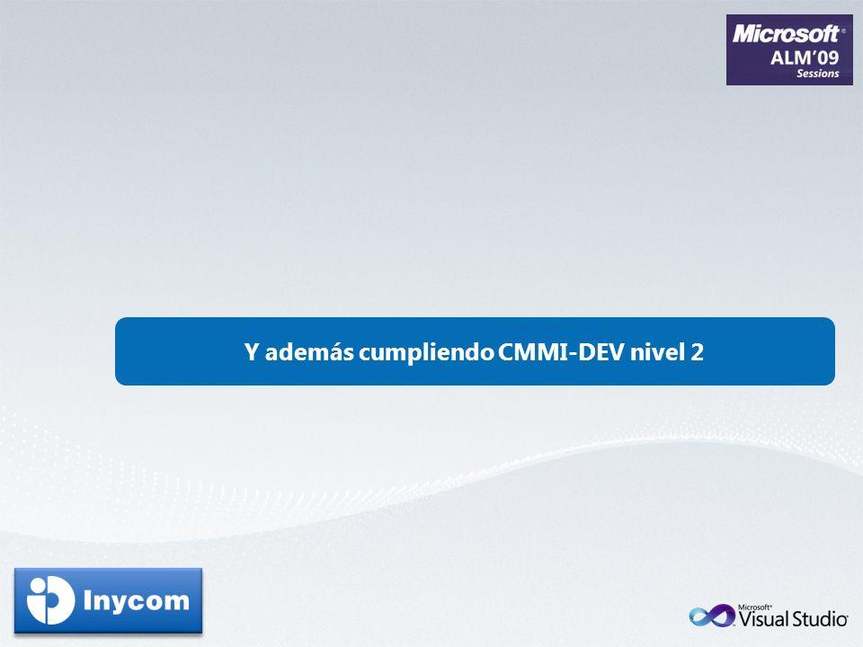 Y además cumpliendo CMMI-DEV nivel 2