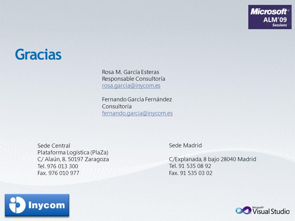 Rosa M. García Esteras Responsable Consultoría rosa.garcia@inycom.es Fernando García Fernández Consultoría fernando.garcia@inycom.es Sede Central Plat