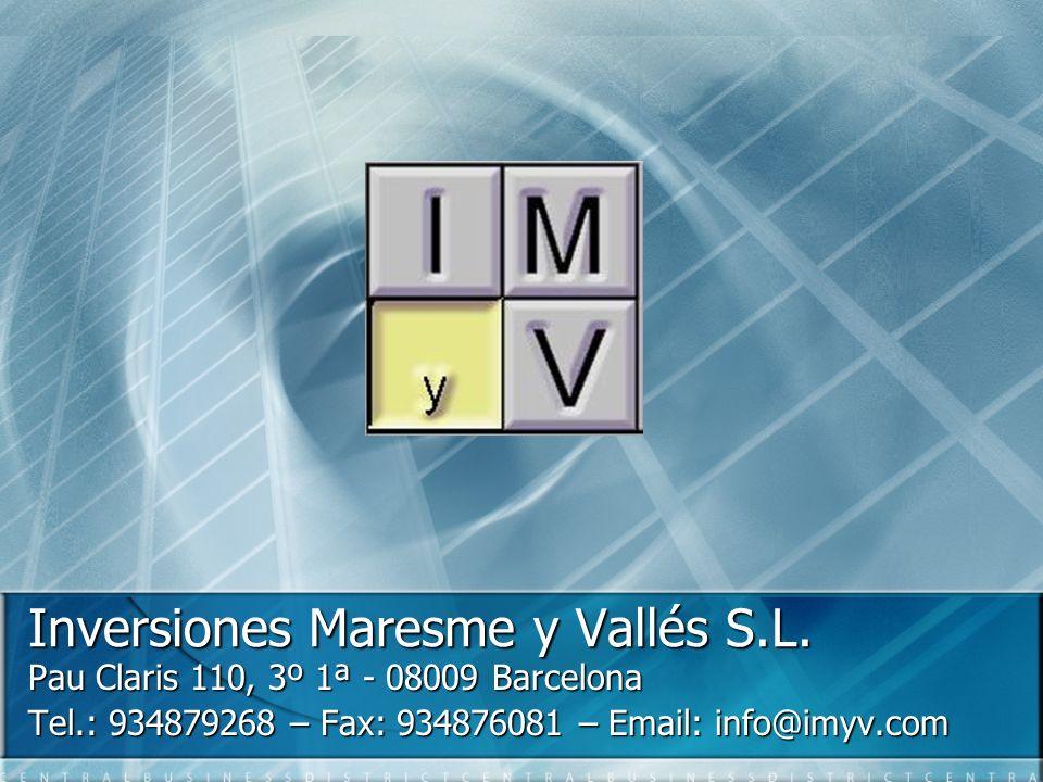 Inversiones Maresme y Vallés S.L.
