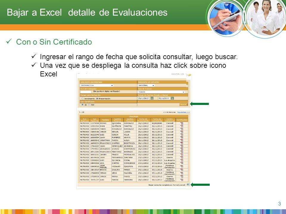 Con o Sin Certificado 3 Ingresar el rango de fecha que solicita consultar, luego buscar.