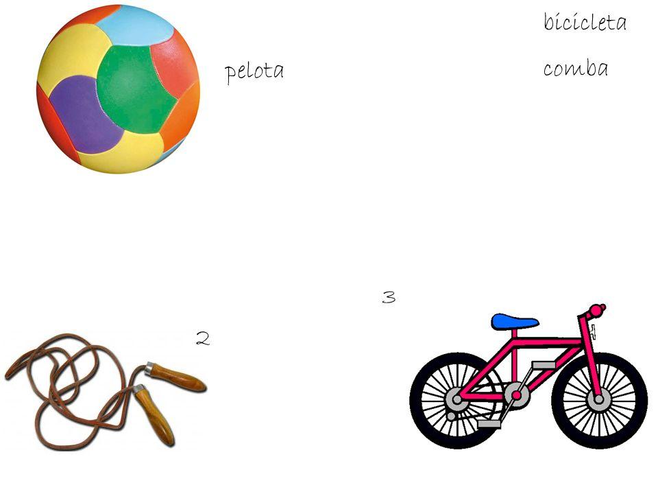 2 3 bicicleta pelota comba