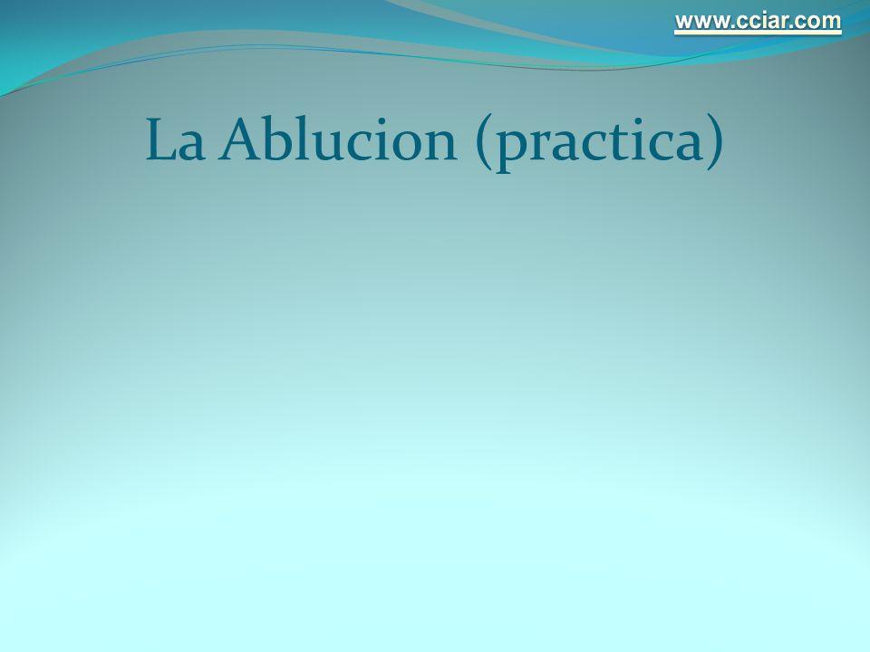 La Ablucion (practica)