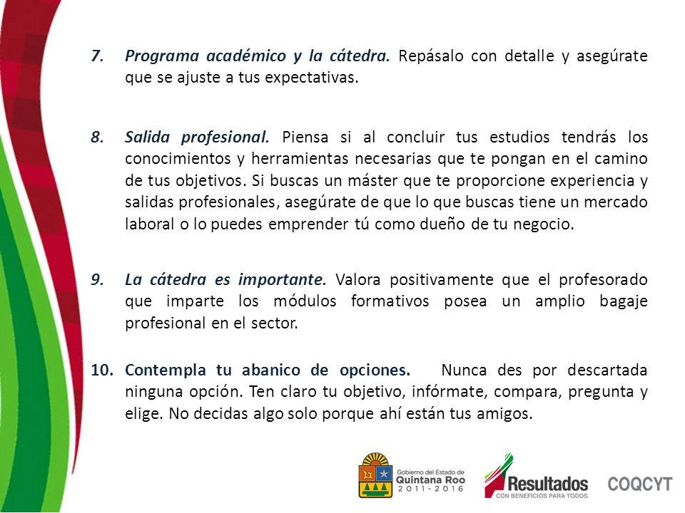 7.Programa académico y la cátedra.