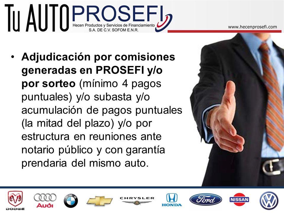 Autos nuevos y seminuevos de hasta $195,000.00, si requieres auto de mayor precio, completas con tus recursos o te abrimos un crédito por el restante, en base a tus comisiones con Tu Auto PROSEFI.