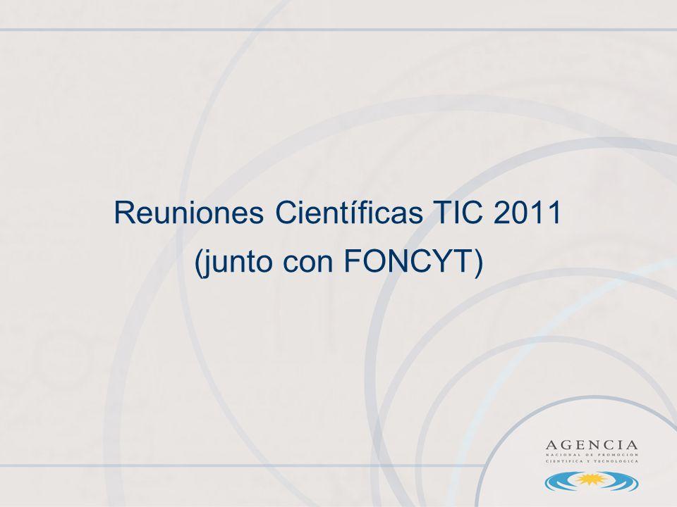 Reuniones Científicas TIC 2011 (junto con FONCYT)