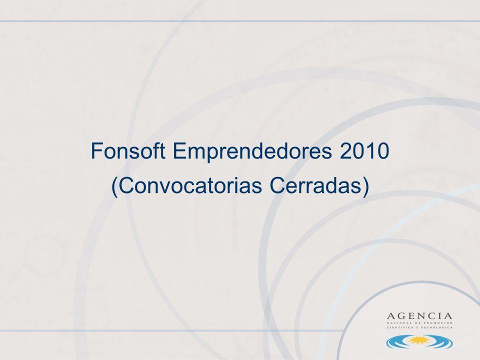 Fonsoft Emprendedores 2010 (Convocatorias Cerradas)
