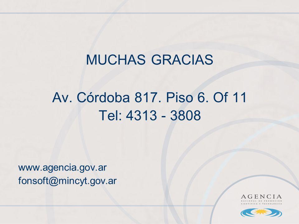 MUCHAS GRACIAS Av. Córdoba 817. Piso 6.