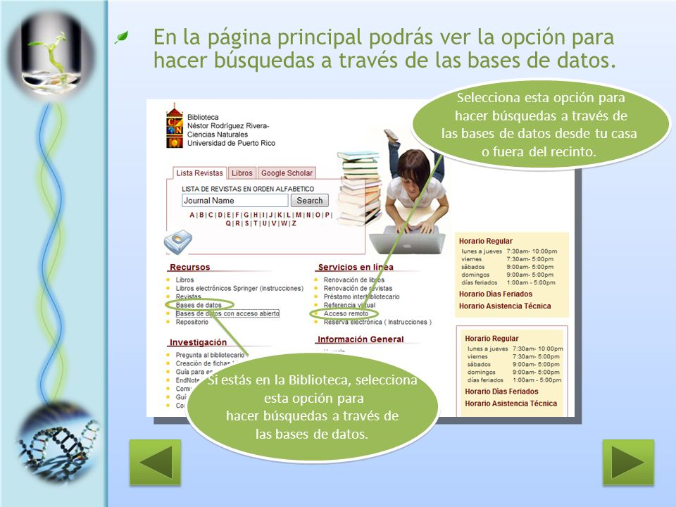 Al seleccionar un artículo… Aparecerá en pantalla la información bibliográfica completa y el resumen (abstract) del artículo.