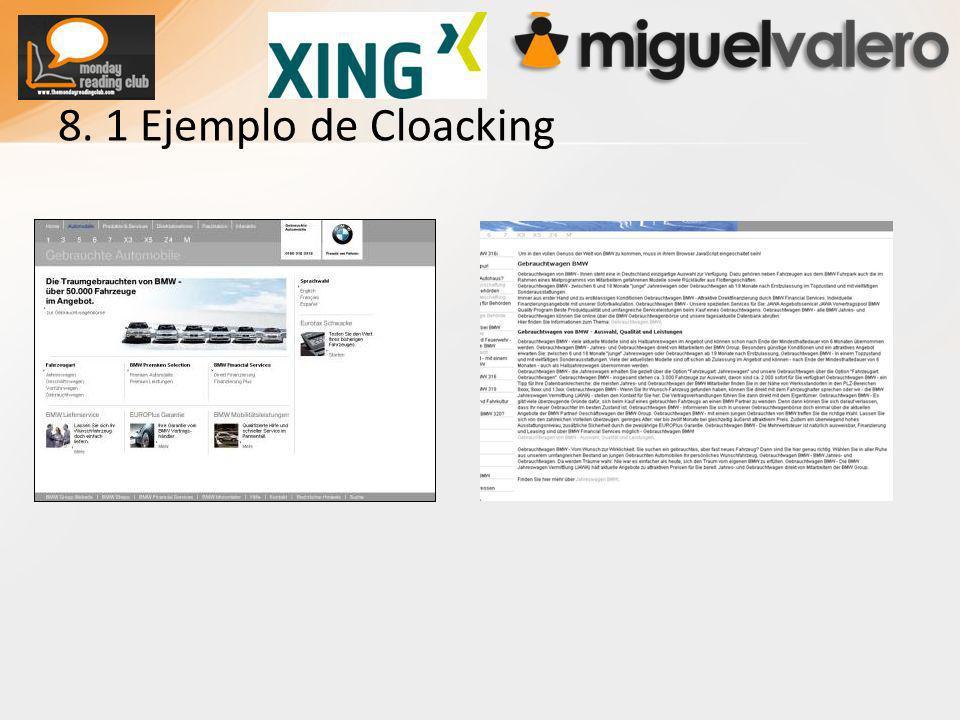 8. 1 Ejemplo de Cloacking