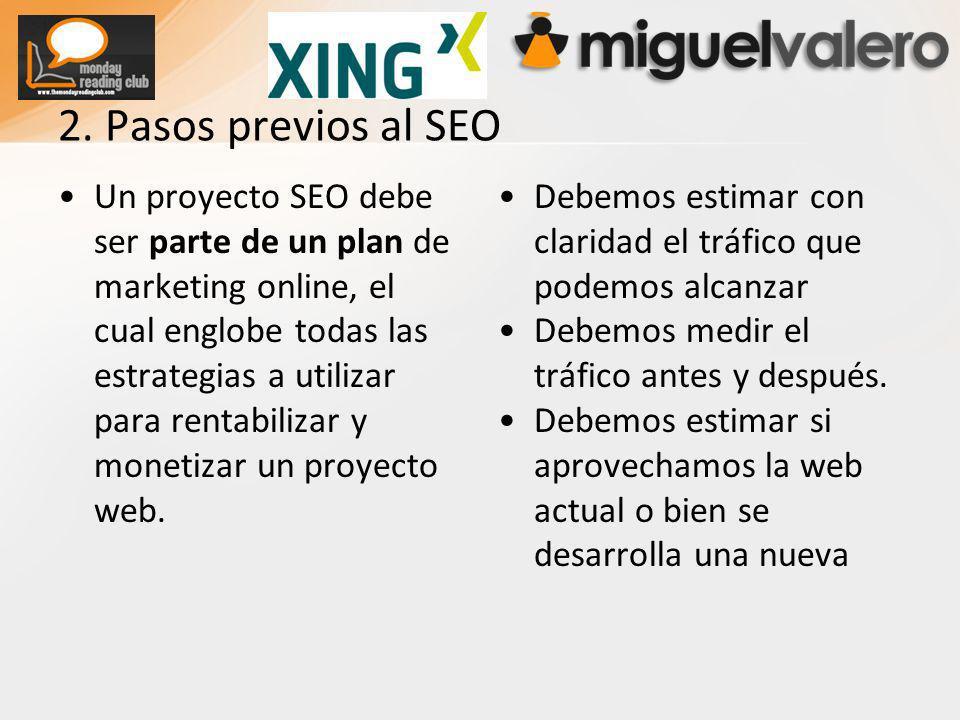 Un proyecto SEO debe ser parte de un plan de marketing online, el cual englobe todas las estrategias a utilizar para rentabilizar y monetizar un proyecto web.