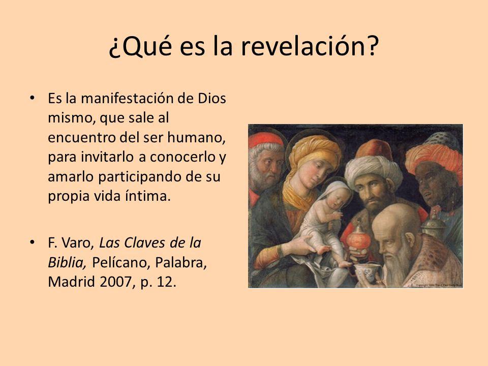 ¿Qué es la revelación? Es la manifestación de Dios mismo, que sale al encuentro del ser humano, para invitarlo a conocerlo y amarlo participando de su