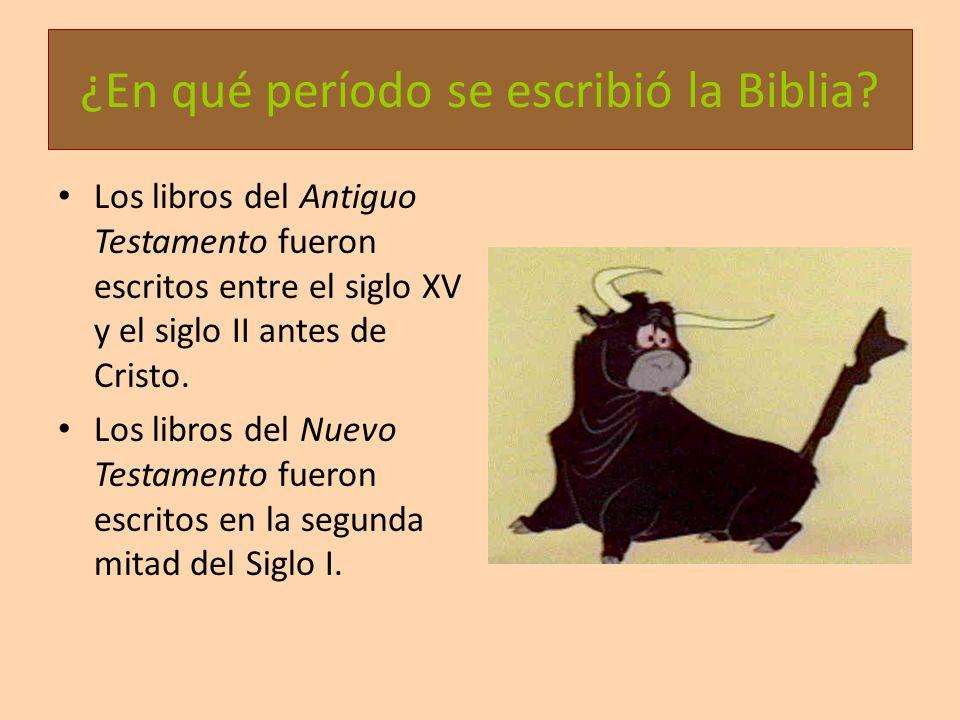 ¿En qué período se escribió la Biblia? Los libros del Antiguo Testamento fueron escritos entre el siglo XV y el siglo II antes de Cristo. Los libros d
