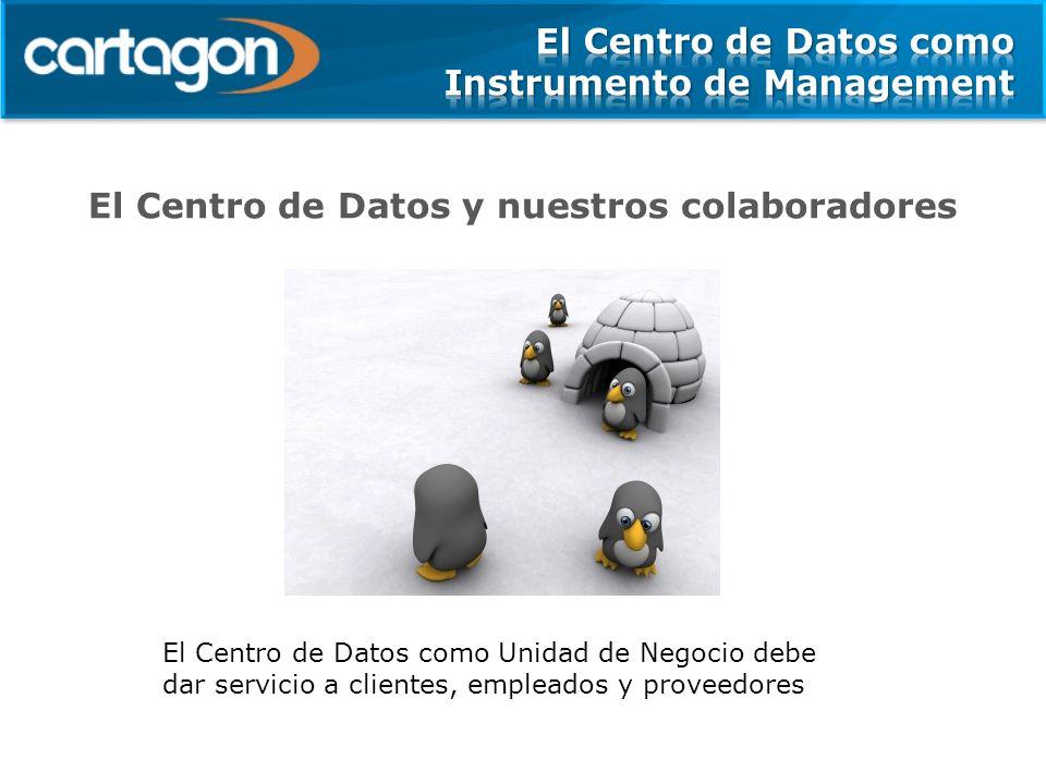 El Centro de Datos y nuestros colaboradores El Centro de Datos como Unidad de Negocio debe dar servicio a clientes, empleados y proveedores