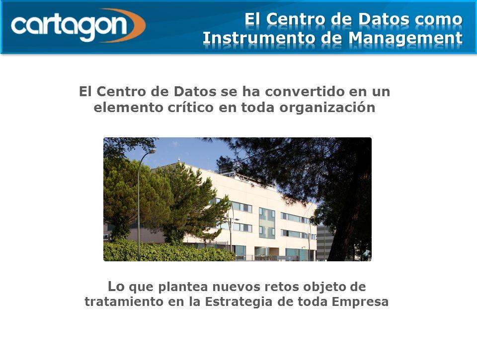 El Centro de Datos se ha convertido en un elemento crítico en toda organización Lo que plantea nuevos retos objeto de tratamiento en la Estrategia de