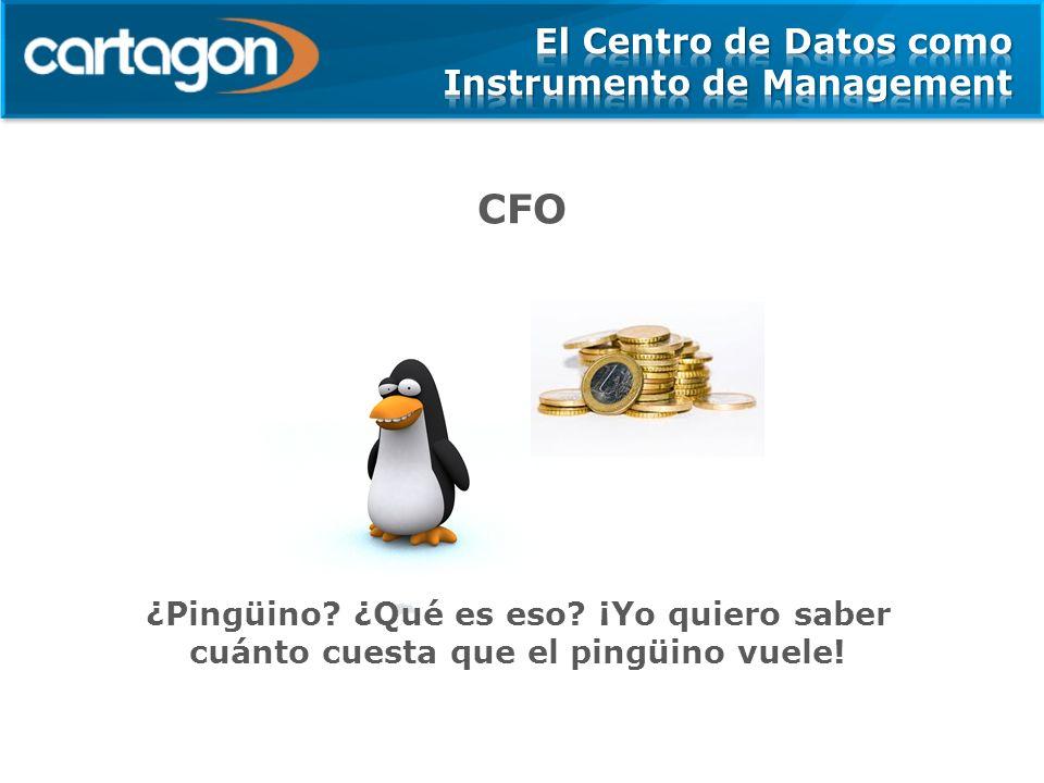 CFO ¿Pingüino? ¿Qué es eso? ¡Yo quiero saber cuánto cuesta que el pingüino vuele!