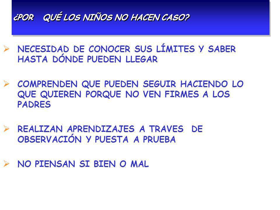 CASTIGOS, ¿FUNCIONAN.