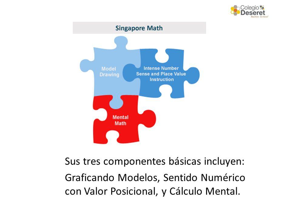 Sus tres componentes básicas incluyen: Graficando Modelos, Sentido Numérico con Valor Posicional, y Cálculo Mental.
