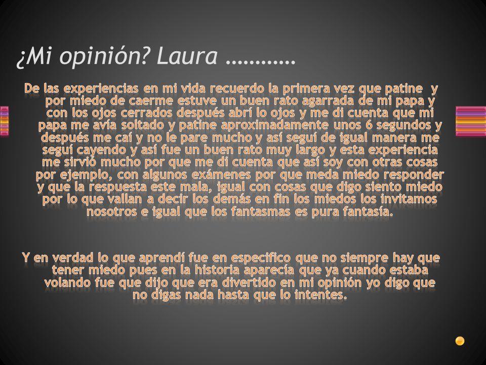 ¿Mi opinión Laura …………